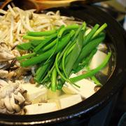 湯豆腐(もやし・浅葱・ひらたけ)