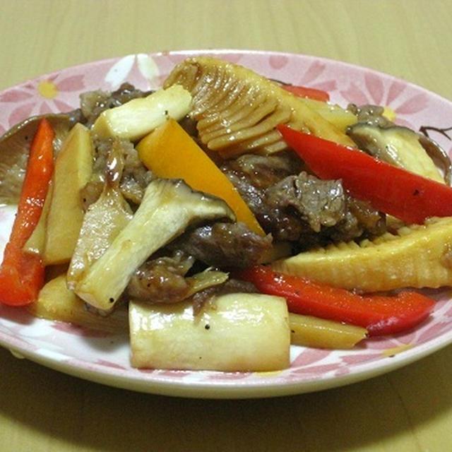 牛肉とお野菜の簡単炒め物☆