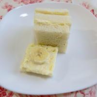 簡単!ケーキ風マンゴーバナナサンド