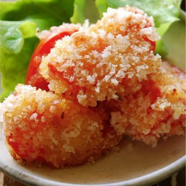 男子食堂レシピ☆にんにく塩麹味のトマトフライ