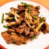 牛肉とニンニクの芽のカレー炒め
