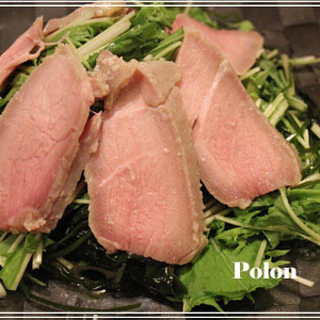 塩麹漬け豚肉ハム風