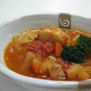 春キャベツとタラのトマトスープ