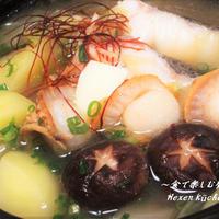 スープから簡単手作り★コク旨 絶品スープ★味噌バター海鮮鍋