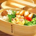 【今日のわっぱ弁当】さつまいもとベーコンのサラダ by みぃさん