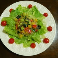 海藻麺のヘルシーサラダ♪