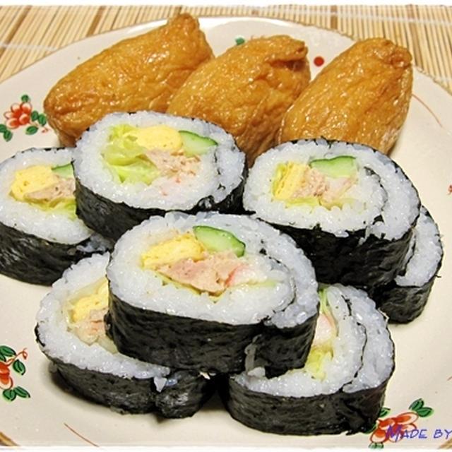 稲荷寿司からサラダ巻きに変更