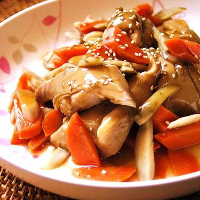 一度で二度美味しい!鶏ごぼう煮。
