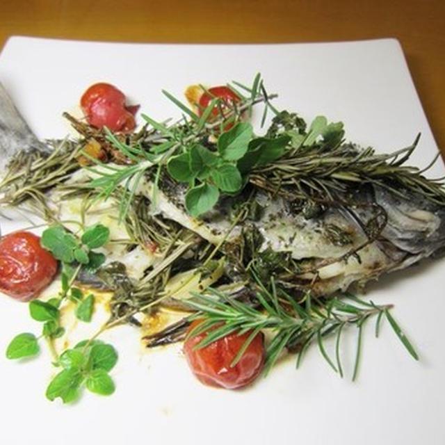白身魚の美味しいハーブ焼き~v(^0^)/