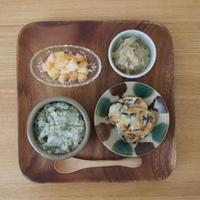 離乳食と木の葉パン