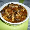 鶏皮&シメジ+アミエビのアヒージョ
