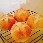 塩こうじ白ごまパン♪チーズナッツコーンかぼちゃサラダサンド♪