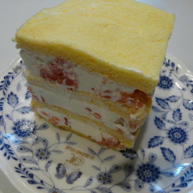 フレッシュ~♪グレープフルーツのショートケーキ