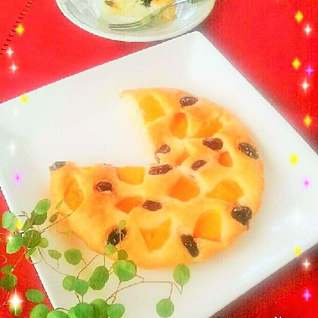 黒豆と桃缶のミルクケーキ