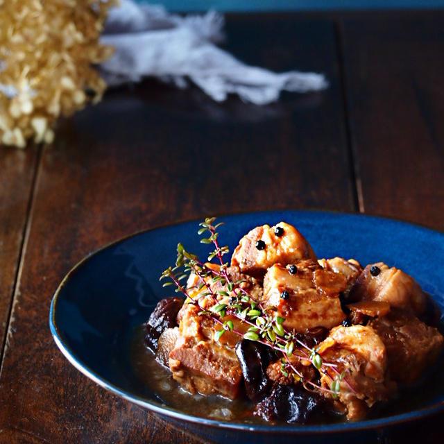 【モニター】ブラックペッパーとプルーンの豚角煮