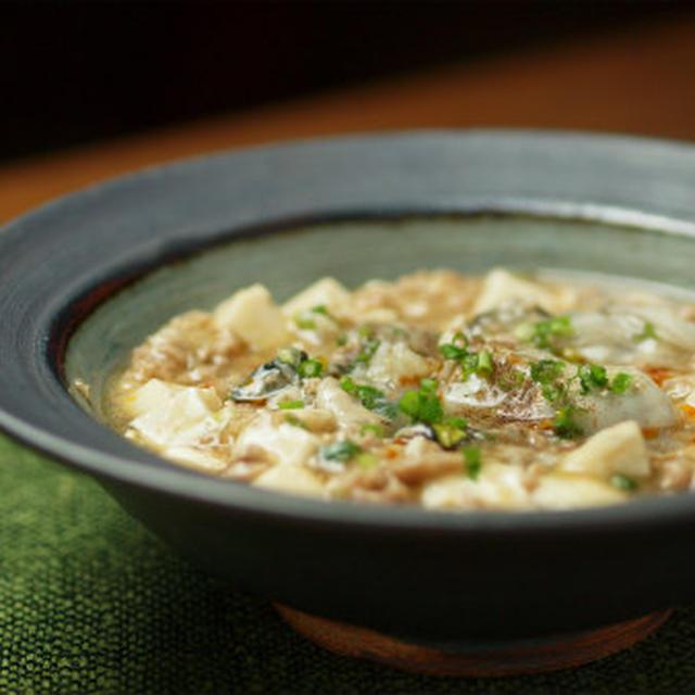 牡蠣入り麻婆豆腐