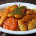 巨大白インゲン豆のオリーブ油煮