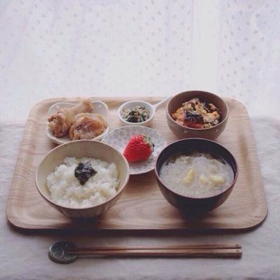 海苔の佃煮の朝ごはん*