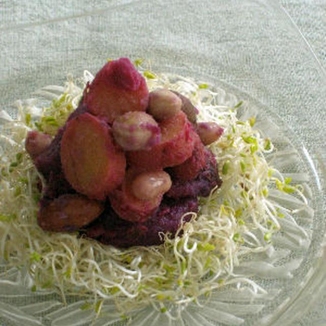 【簡単レシピ】さつまいもとお豆のサラダ
