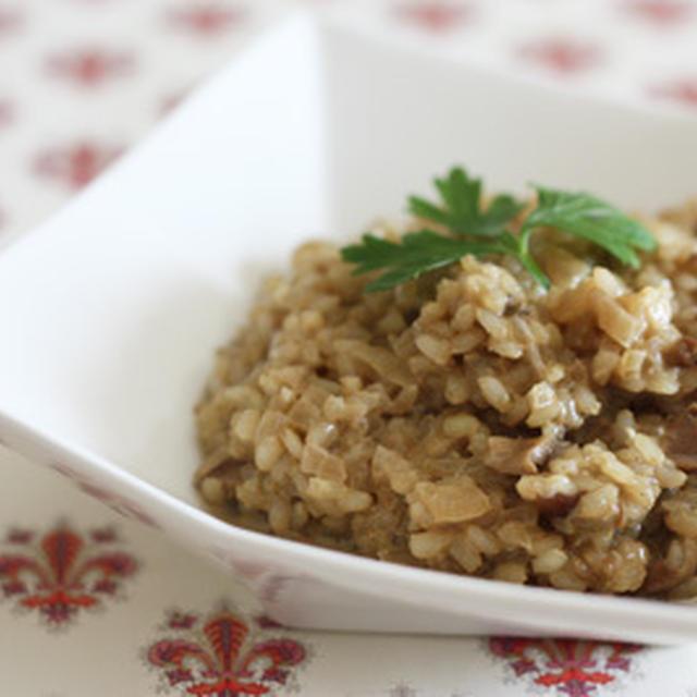 ポルチーニ茸の玄米リゾット
