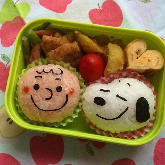 幼稚園弁当☆簡単!白ごはんでスヌーピー キャラ弁