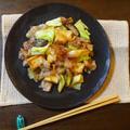 豚肉と厚揚げ・キャベツのこってり味噌炒め