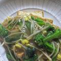 「大豆もやし&菜の花の和風あんかけ☆厚揚げステーキに添えて」