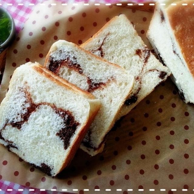 ゼブラパン?ボーダーパン?アートパン?大~失敗マーブル食パンです( 一一)