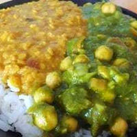 インド風・ほうれん草とひよこ豆の緑のカレーのレシピ
