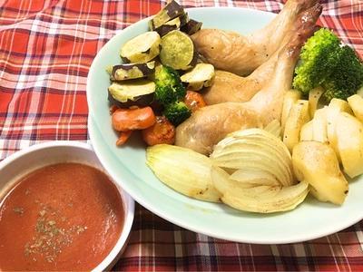 骨つき鶏もも肉のグリル☆ 旨味トマトソース
