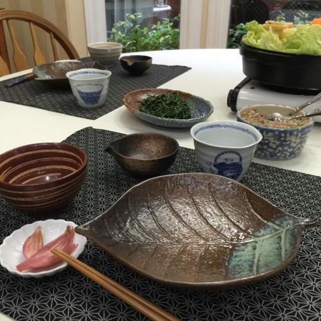 豚肉だんご鍋 & 白菜とりんごの洋風サラダ