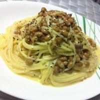とろっ豆で簡単カルボナーラ