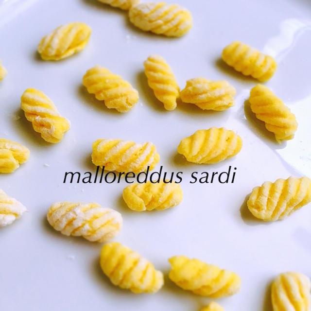 手打ちマッロレッドゥスの黄色ズッキーニソース