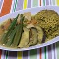 箸の日  しょっつる風味の豚角煮の夏野菜カレー