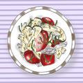 大葉とトマトの麺つゆ和え