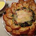 *フランスパンで作るお花のキッシュ*