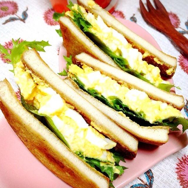 高野豆腐の卵サンドイッチ。