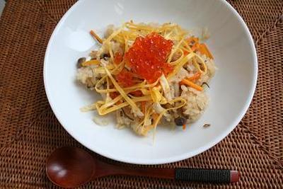 炊きこみちらし寿司  第5回ストウ部TB企画「夏に食べたい 節電レシピ」