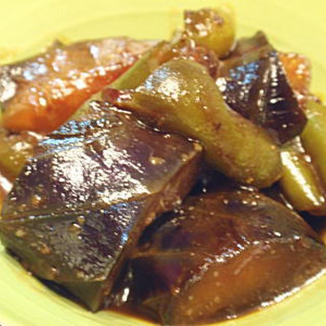 茄子とピーマンの赤味噌煮(レシピ付)