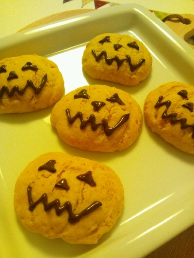 ハロウィンに☆かぼちゃのソフトクッキー