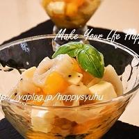 レンコンと柿☆ヘルシーサラダ