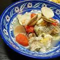 ハーブソルトで簡単、切り身の鱈とハマグリのアクアパッツァ風