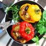 夏野菜パプリカのとろ〜りモッツァレラと茄子のショートパスタ詰め  ミートソース☆彡