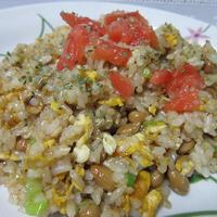 ガパオ風味の納豆チャーハン