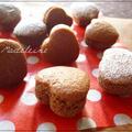 糖質オフ☆大豆粉と米粉のミニチョコマドレーヌ