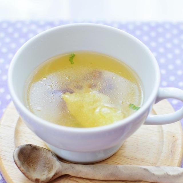 ほっこり蓮根とお餅のスープ
