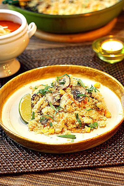 Chicken Cauliflower Rice Pilaf