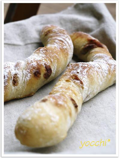 フランスねじねじパン。キャラメリゼVer. <あこ酵母>
