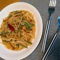 山菜とおろしの和風パスタ
