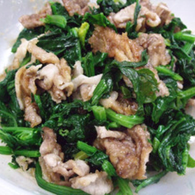 豚肉とほうれん草の炒め物